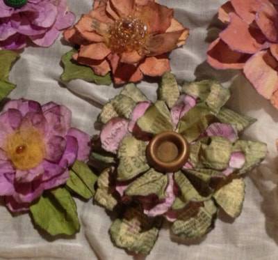 YouTube, How to DIY, Mixed media paper flowers